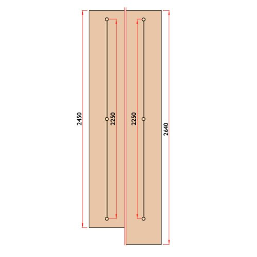 Выравниватель Laterale L=2250мм (10 шт)