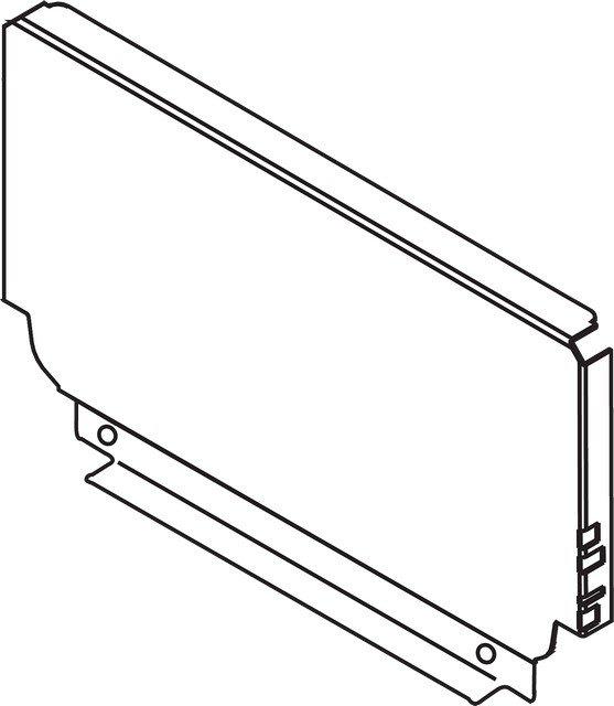 Задняя стенка из стали, высота B (160), ВнШ=863.5-864.4мм, белый шелк