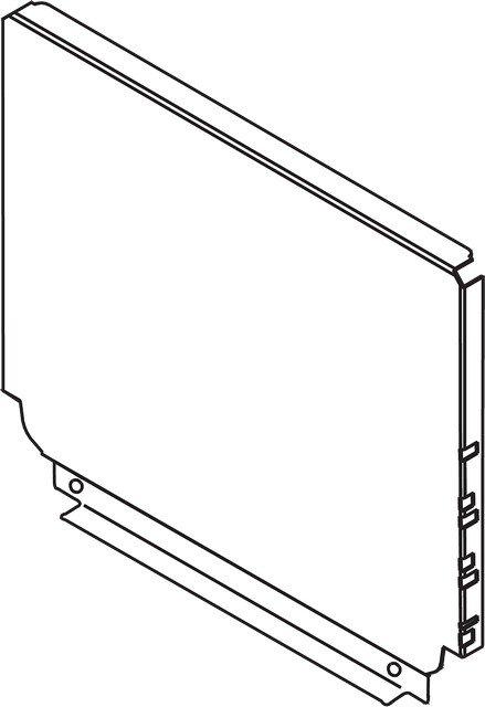 Задняя стенка из стали, высота D (224), ВнШ=562.5-563.4мм, белый шелк