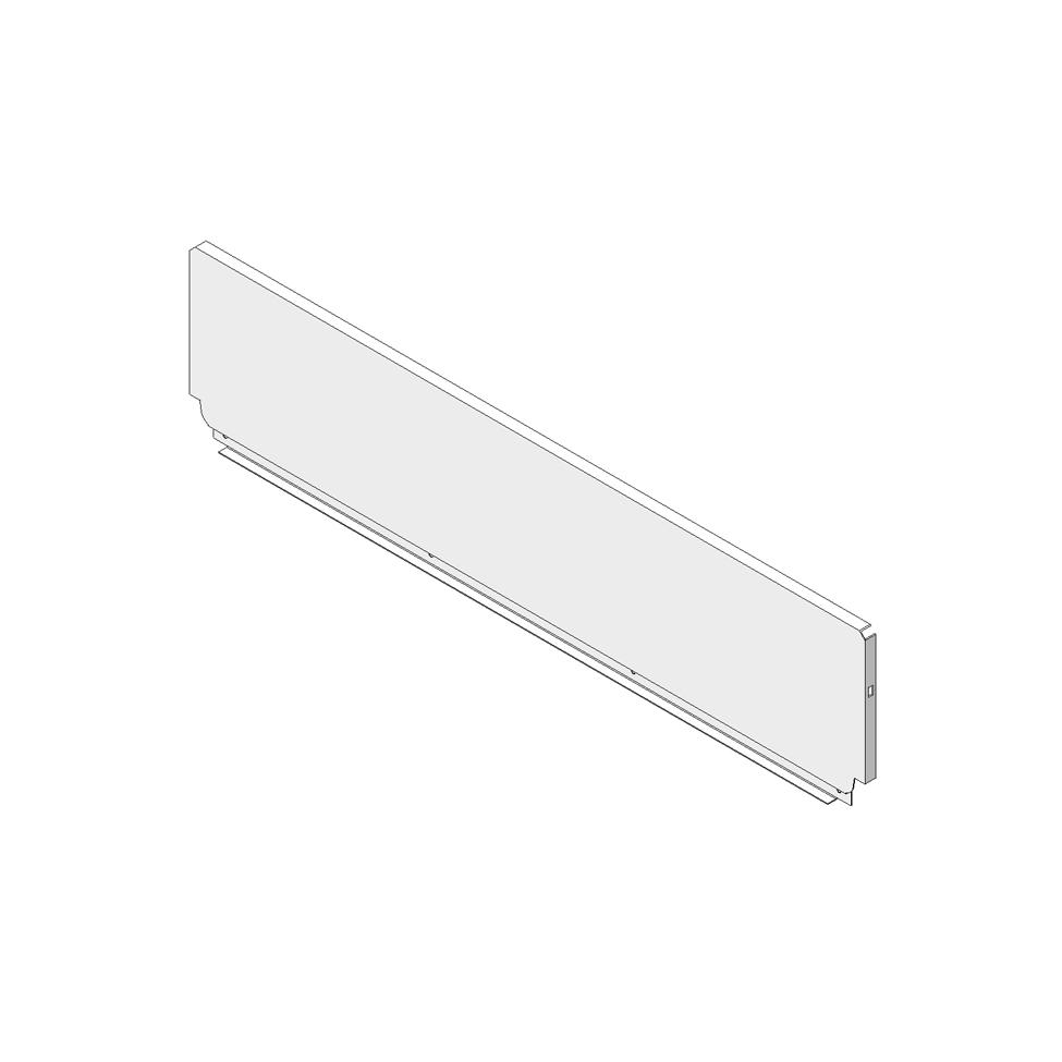Задняя стенка из стали, высота D (224), ВнШ=862.5-863.4мм, терра-черный