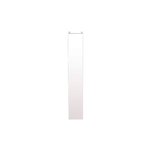 Заглушка белый глянец H=100мм (пластик)