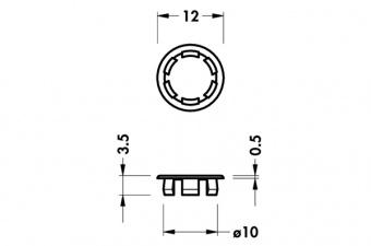 Заглушка для навески 818, белая (пластик)