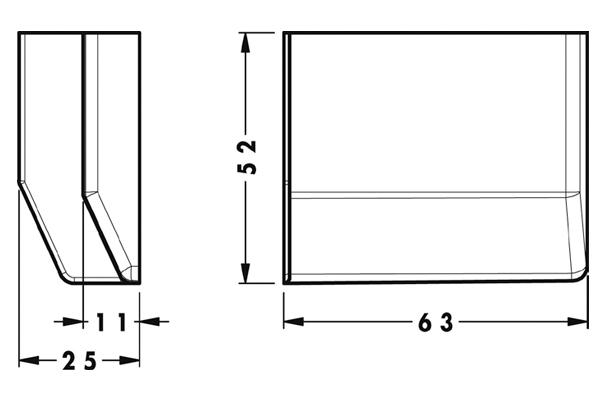 Заглушка для подвеса 801, белая, левая