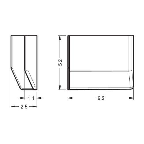 Заглушка для подвеса 801, графит, левая