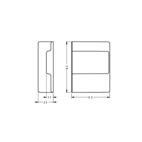 Заглушка для подвеса 807, серый, левая