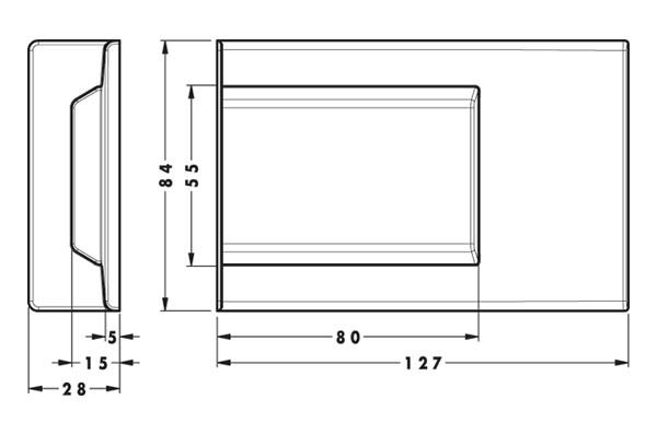 Заглушка для подвеса 807XL, белая