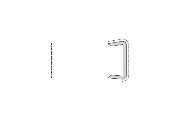 Заглушка Frassino  (Positano) H=100мм (пластик)
